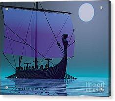 Viking Journey Acrylic Print by Corey Ford