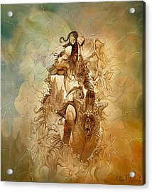 Acrylic Print featuring the painting Viking Raider by Steve Roberts