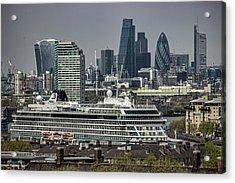 Viking Sea Cruise Ship Acrylic Print by Martin Newman