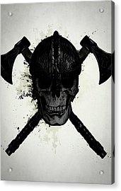Viking Skull Acrylic Print