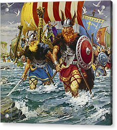 Vikings Acrylic Print by Jack Keay