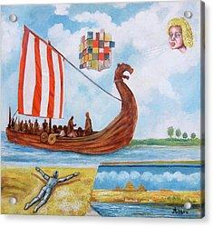 Vikings Acrylic Print by Rudolf  Zamazal