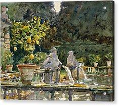 Villa Di Marlia Lucca A Fountain Acrylic Print