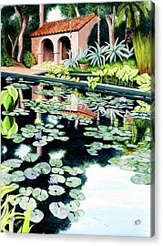 Lily's Pond - Prints Available In Large And Smaller Sizes Acrylic Print
