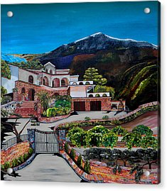 Villa Maria Acrylic Print by Patti Schermerhorn