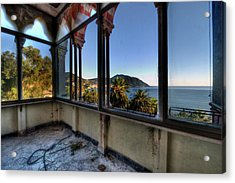 Acrylic Print featuring the photograph Villa Of Windows On The Sea - Villa Delle Finestre Sul Mare II by Enrico Pelos