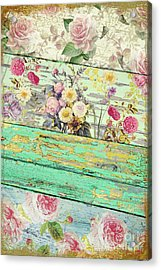 Villa Rosa Acrylic Print by Mindy Sommers