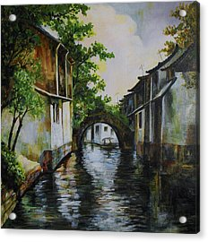 Village Canals Frame 1 Acrylic Print