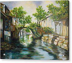 Village Canals Frame 2 Acrylic Print