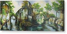 Village Canals Acrylic Print