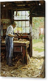 Village Carpenter Acrylic Print by Edward Henry Potthast