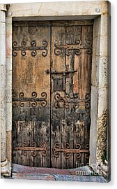 Village Chateau French Old Ancient Door Color  Acrylic Print