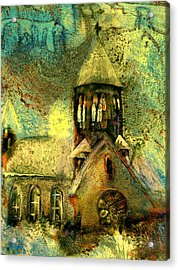 Village Church Acrylic Print by Anne Weirich