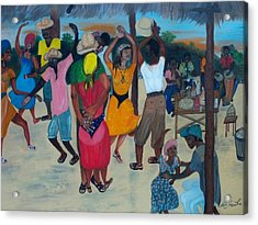 Village Dance Under The Pergola Acrylic Print