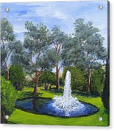Village Fountain Acrylic Print