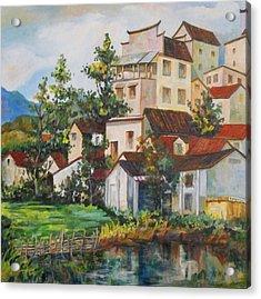 Village Hotel Frame 1 Acrylic Print