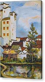 Village Hotel Frame 2 Acrylic Print