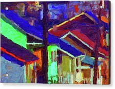 Village Houses Acrylic Print by Richard Farrington