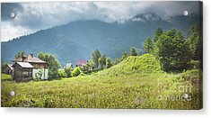 Village In A Mountains Acrylic Print by Svetlana Sewell