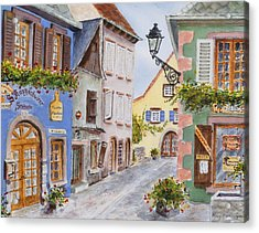 Village In Alsace Acrylic Print by Mary Ellen Mueller Legault
