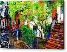 Village Life Sketch Acrylic Print by Randy Aveille