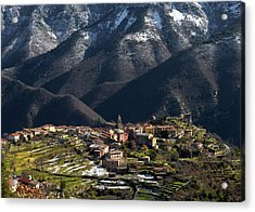 Acrylic Print featuring the photograph Village Of Utelle by Carl Amoth