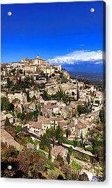 Village Of Gordes In Provence Acrylic Print by Olivier Le Queinec