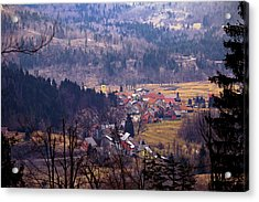 Village Of Lokve In Gorski Kotar  Acrylic Print