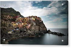 Acrylic Print featuring the photograph Village Of Manarola Cinqueterre, Liguria, Italy by Michalakis Ppalis