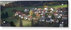 Village Of Residential Homes In Germany Acrylic Print by Greg Dale