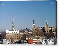 Acrylic Print featuring the photograph Village Of Spires by Gary Wonning