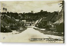 Acrylic Print featuring the photograph Village Of Sumay Guam by eGuam Photo