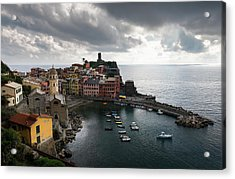 Acrylic Print featuring the photograph Vernazza Village, Italy  by Michalakis Ppalis