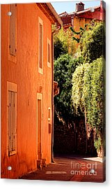 Acrylic Print featuring the photograph Village Street In Provence by Olivier Le Queinec