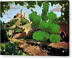 Village. Tower On The Hill Acrylic Print by Dr Loifer Vladimir