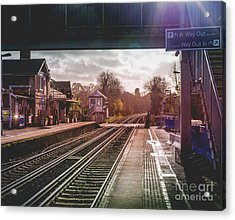 The Village Train Station Acrylic Print