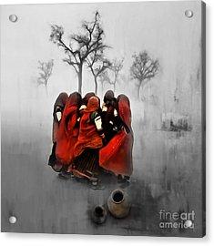 Village Women 01 Acrylic Print