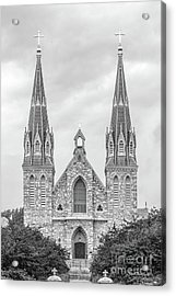Villanova University St. Thomas Of Villanova Church Acrylic Print by University Icons