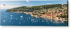 Villefranche-sur-mer And Cap De Nice On French Riviera Acrylic Print