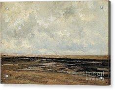 Villerville Beach In Normandy Acrylic Print