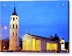 Acrylic Print featuring the photograph Vilnius Cathedral by Fabrizio Troiani
