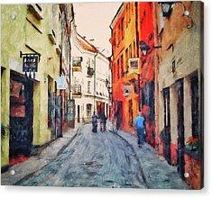 Vilnius In Spring Acrylic Print