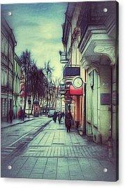 Vilnius Town Street 002 Acrylic Print