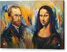 Vincent Meets Mona Lisa Xl 1 Acrylic Print by Peter Nottrott