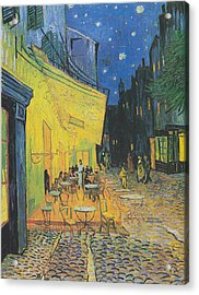 Vincent Van Gogh's Cafe Terrace At Night Acrylic Print by Vintage Images