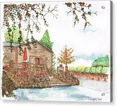 Vineyard -1-sonoma-ca Acrylic Print