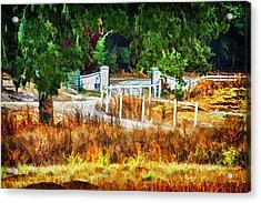 Vineyard Gate Acrylic Print by Patricia Stalter
