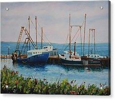 Vineyard Harbor 9 Acrylic Print by Michael McGrath