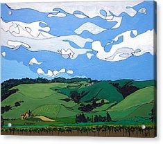 Vineyard Landscape 1 Acrylic Print