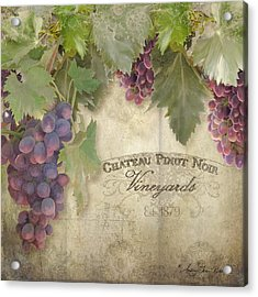 Vineyard Series - Chateau Pinot Noir Vineyards Sign Acrylic Print